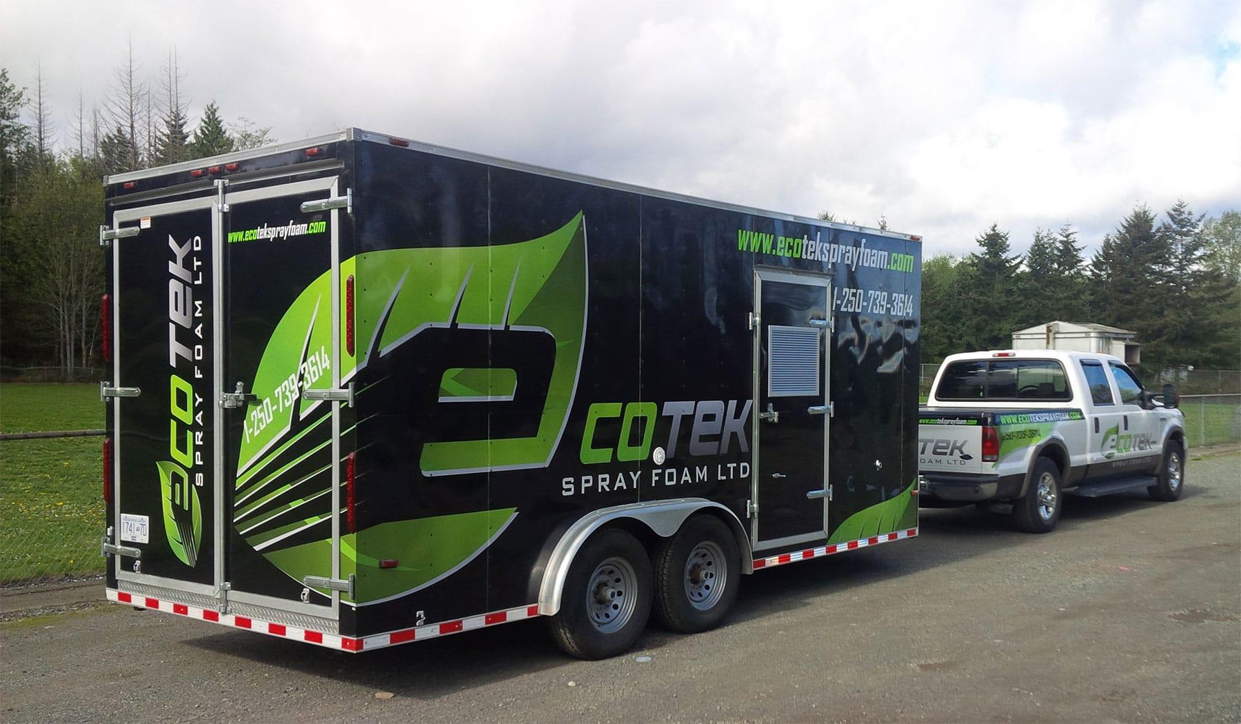 ecotek-truck-trailer-decals - EcoTek Spray Foam Insulation